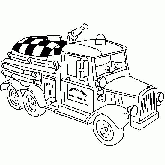 Coloriage Camion de Pompier #51 (Transport) - Coloriages à ...