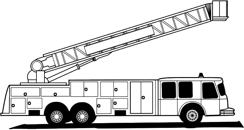 Coloriage Camion de Pompier #135852 (Transport) - Album de ...
