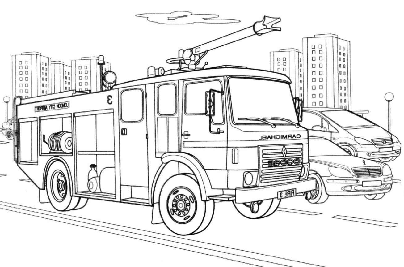 Coloriage Camion de Pompier #135854 (Transport) - Album de ...
