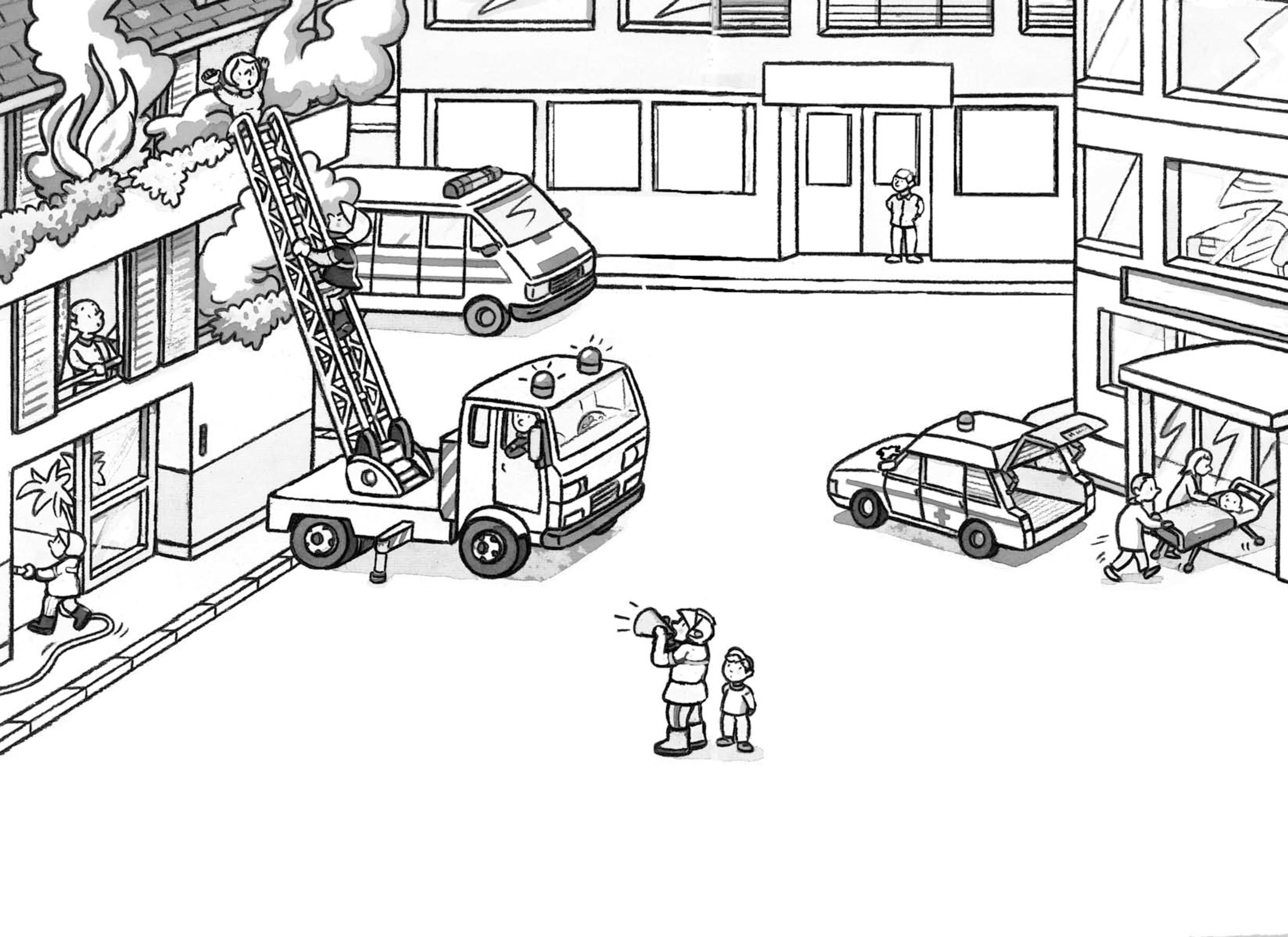 Coloriage Camion de Pompier #135904 (Transport) - Album de ...