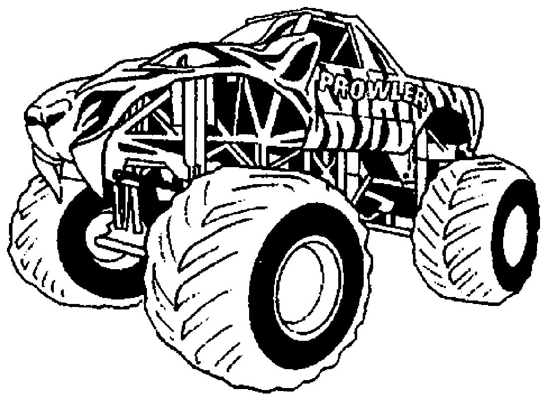 Coloriages Monster Truck (Transport) - Coloriages à imprimer