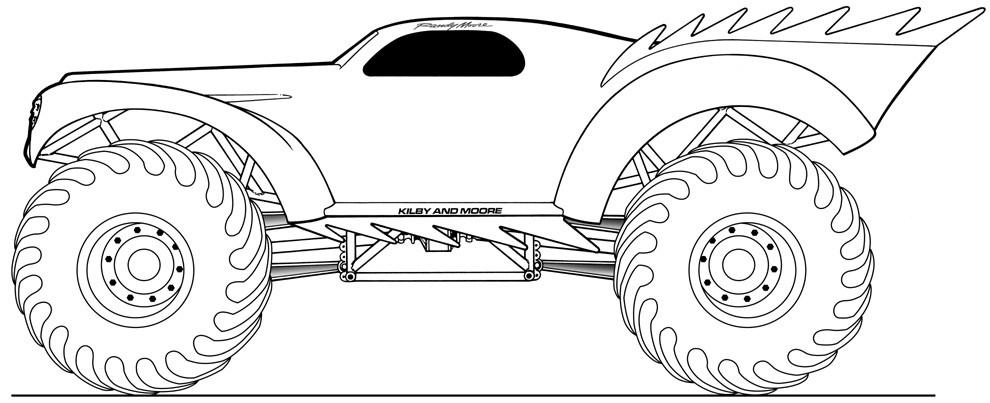 Coloriages Monster Truck (Transport) - Page 4 - Album de ...