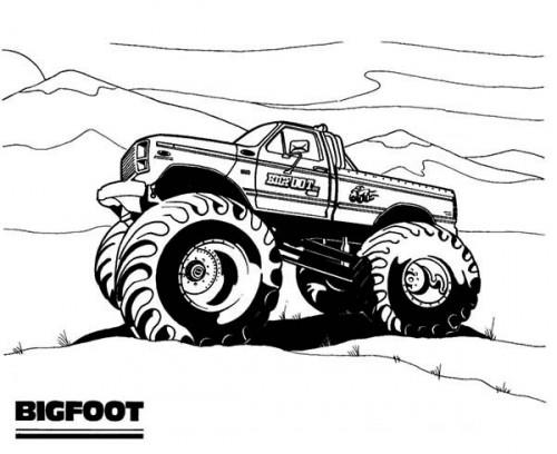 Coloriage Monster Truck #141369 (Transport) - Album de ...