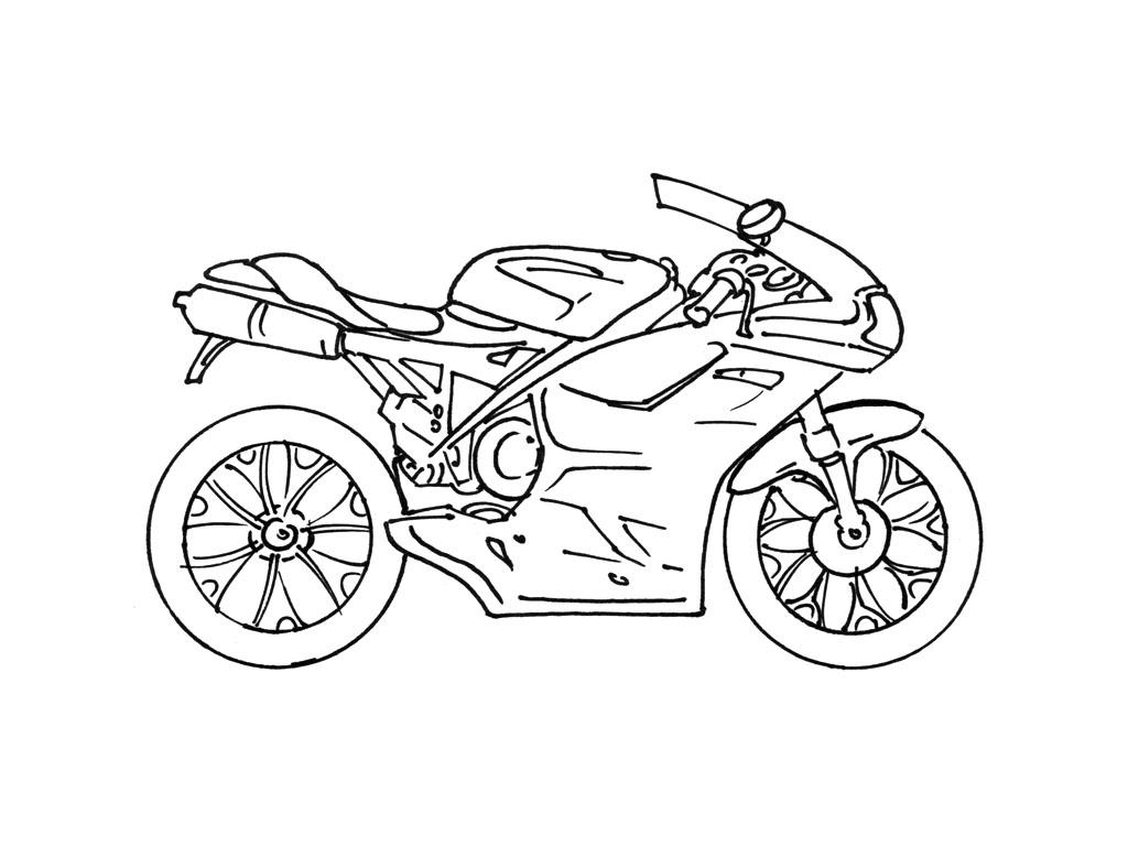 Coloriage Moto #136273 (Transport) - Album de coloriages