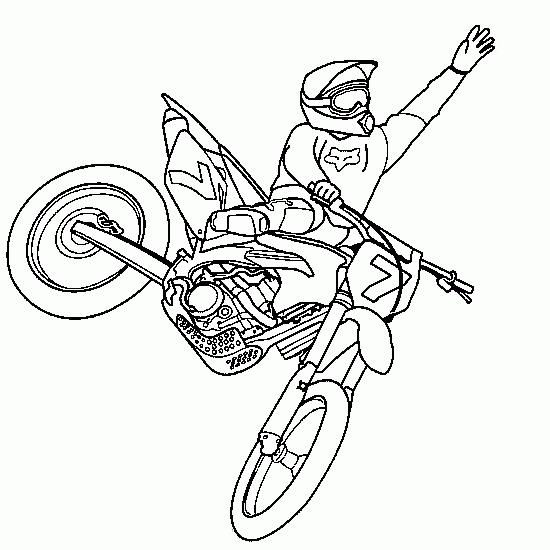 Coloriage Motocross #1 (Transport) - Coloriages à imprimer