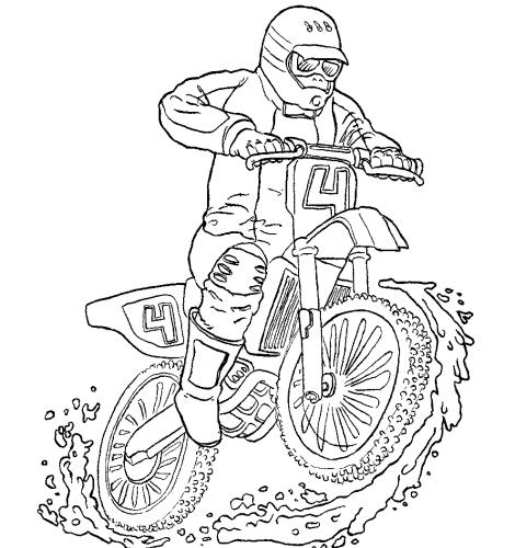 Coloriages Motocross (Transport) - Album de coloriages