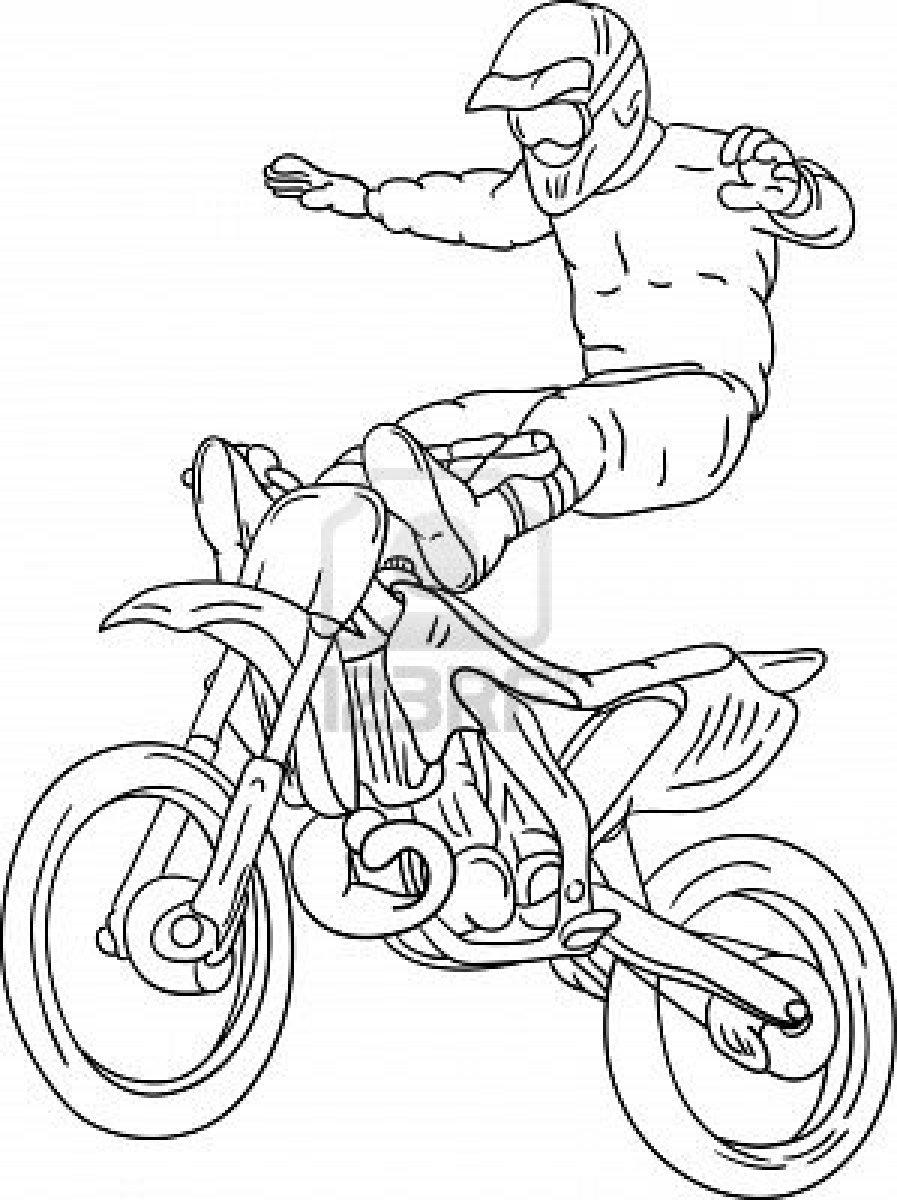 Coloriages Motocross Transport Album De Coloriages