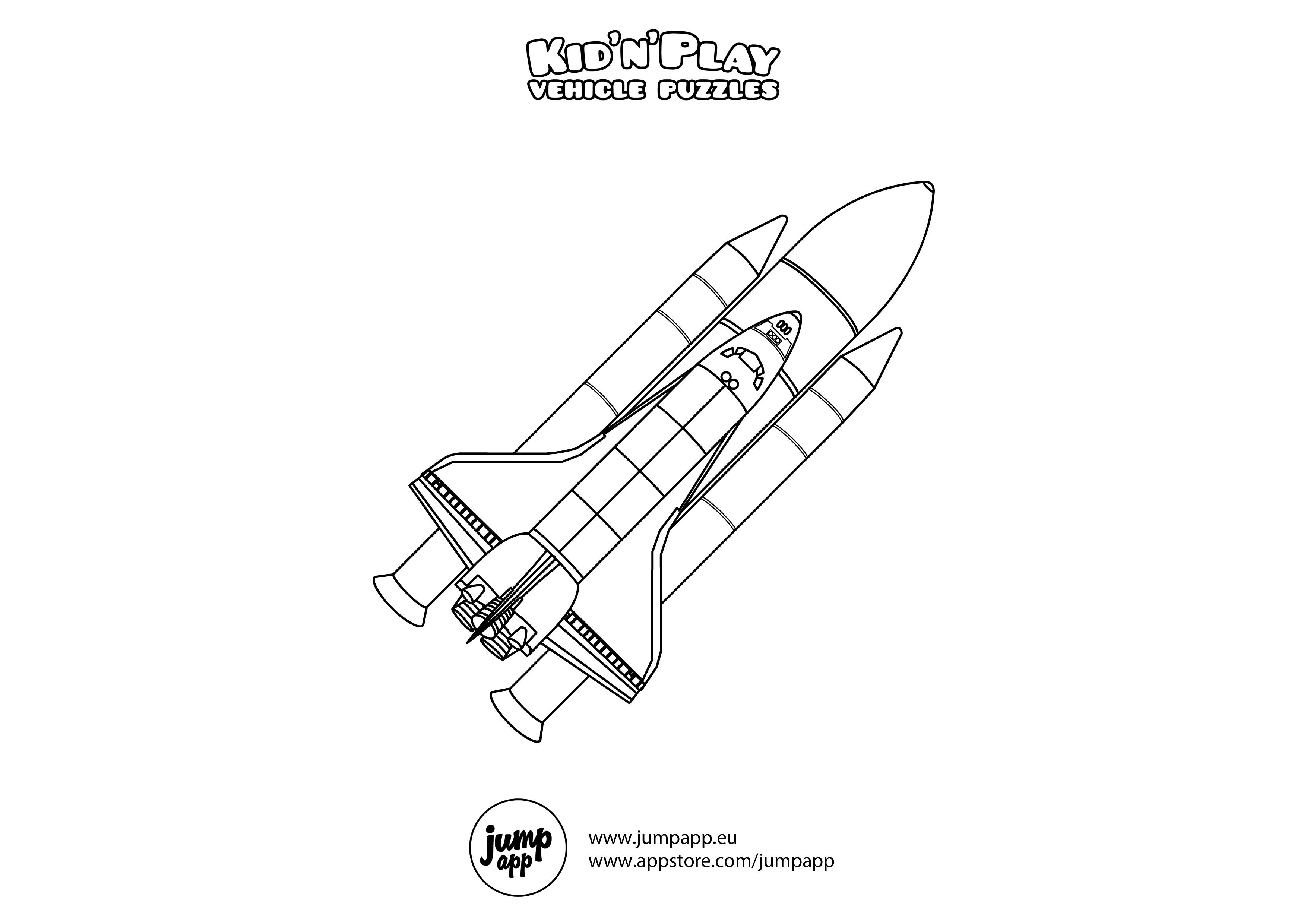 Coloriage Navette Spatiale #140511 (Transport) - Album de ...