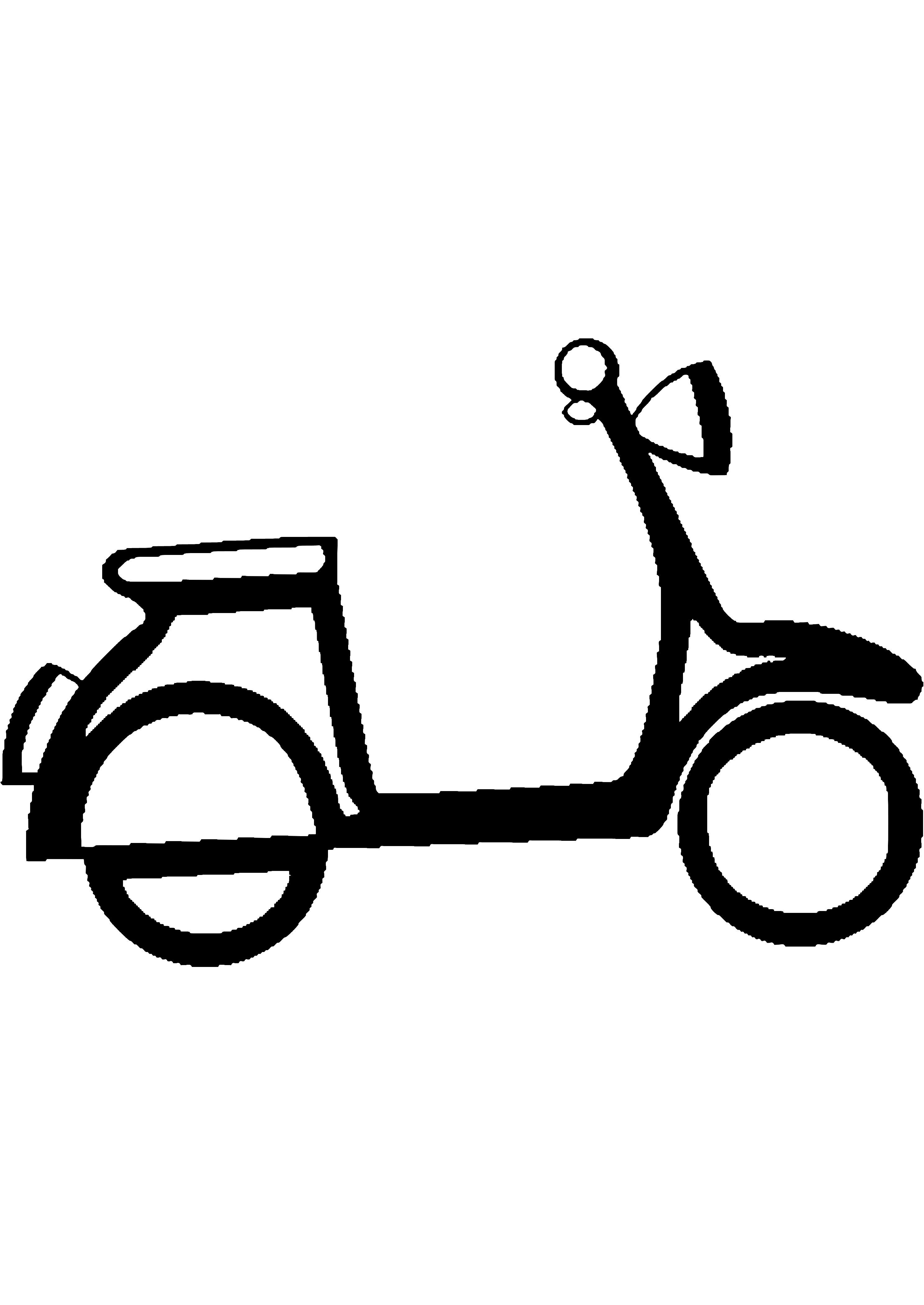 Coloriage Scooter #139545 (Transport) - Album de coloriages
