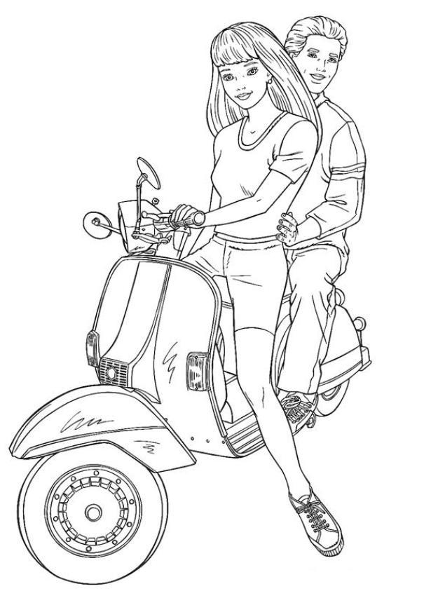 Coloriage Scooter #23 (Transport) - Coloriages à imprimer