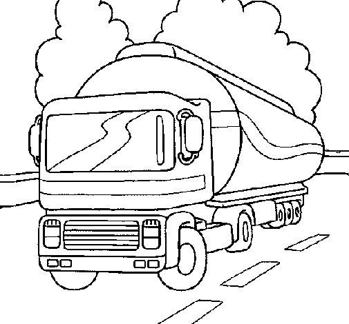 Coloriage Semi remorque #13 (Transport) - Coloriages à ...