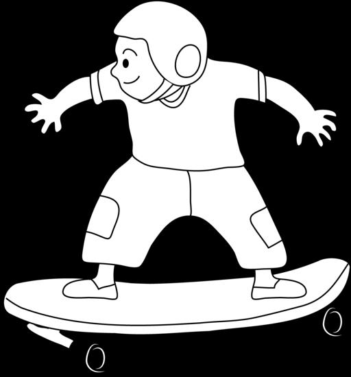 Coloriage Skateboard / Planche à roulette #139393 ...