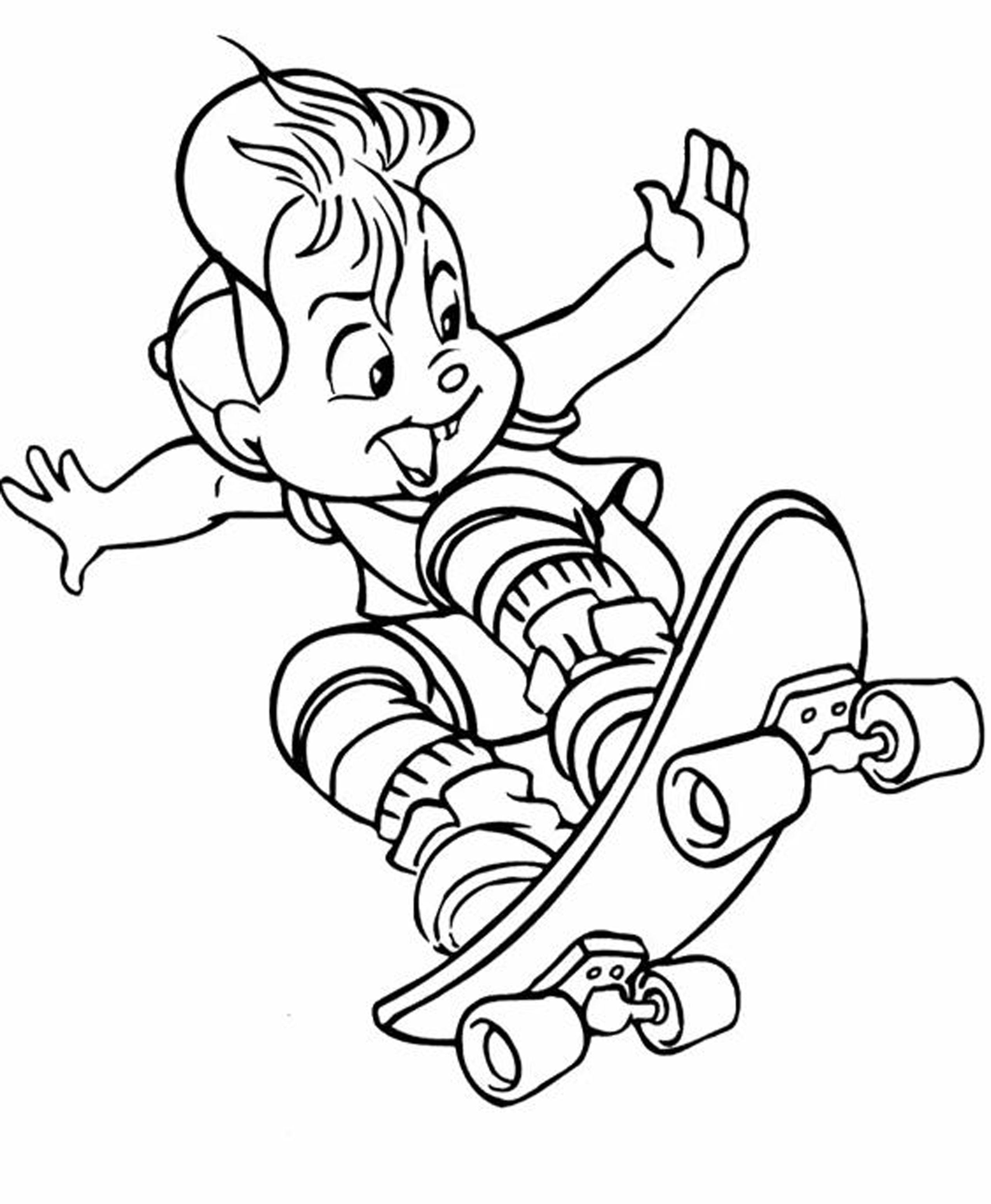 Coloriage Skateboard / Planche à roulette #139397 ...