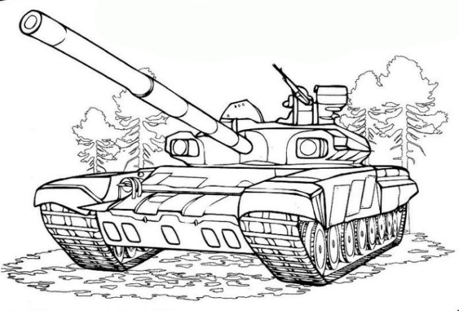 Coloriage Tank #138006 (Transport) - Album de coloriages