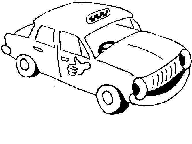 Coloriage Taxi #12 (Transport) - Coloriages à imprimer