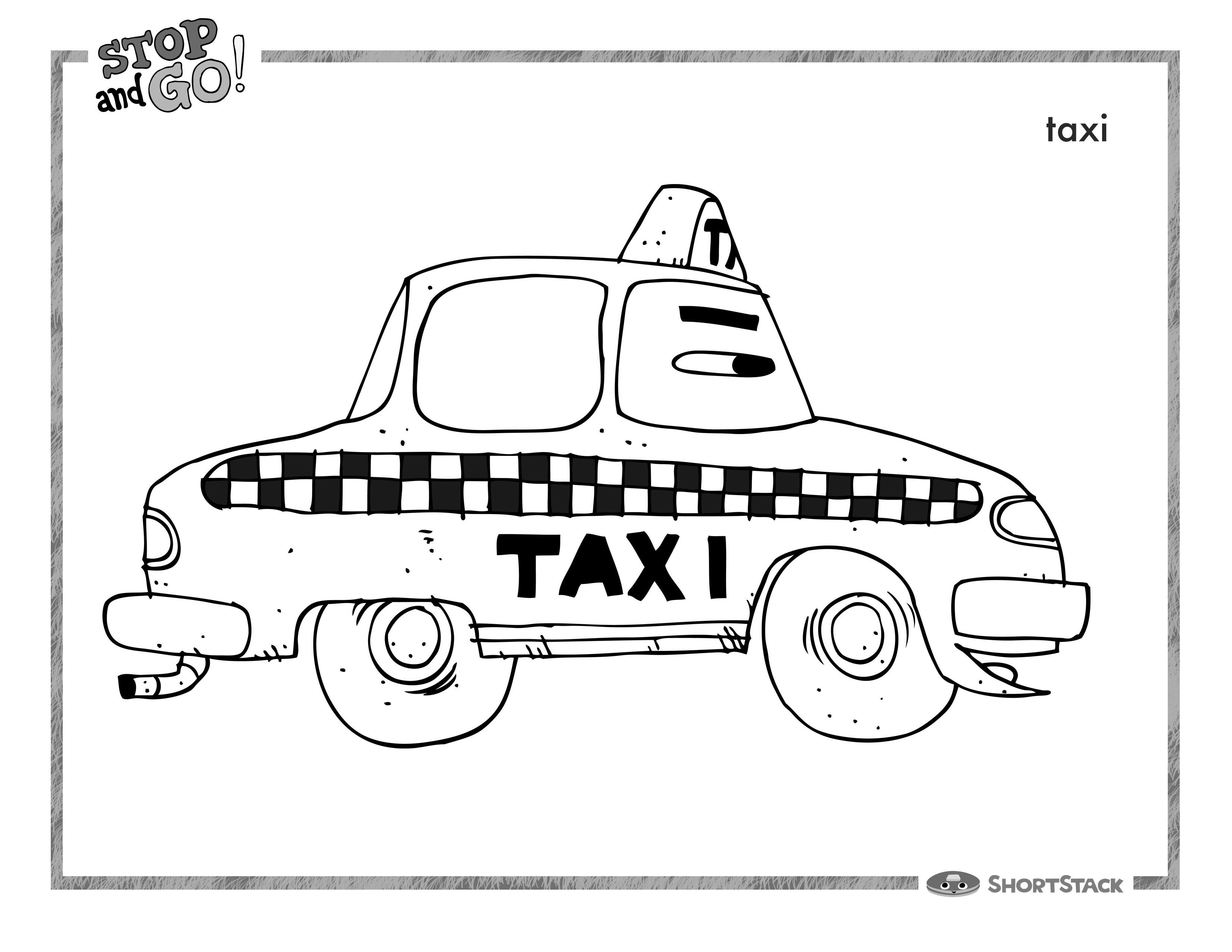 Coloriage Taxi #24 (Transport) - Coloriages à imprimer