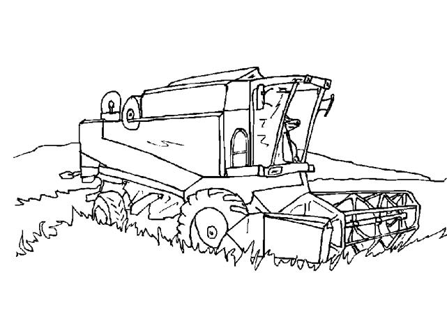 Coloriage Tracteur #1 (Transport) - Coloriages à imprimer