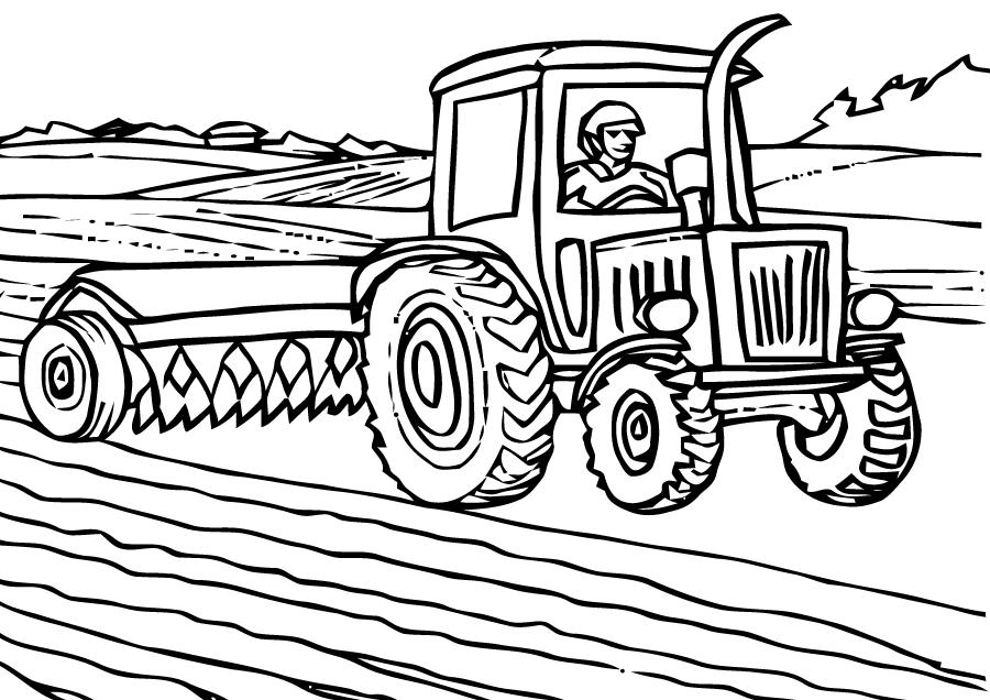 Coloriages Tracteur Transport Album De Coloriages