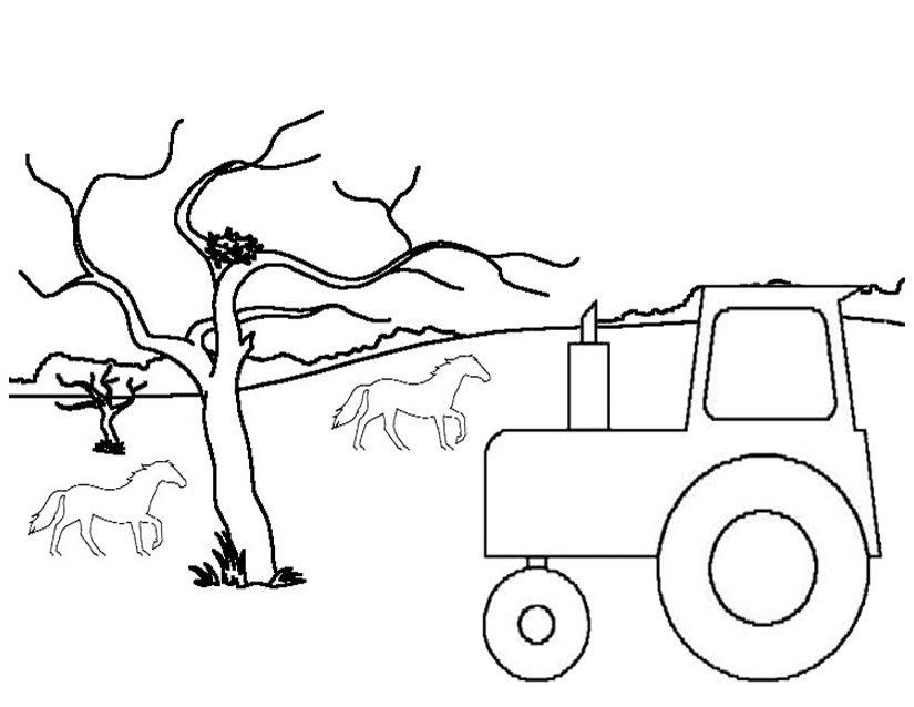 Coloriage Tracteur #141987 (Transport) - Album de coloriages