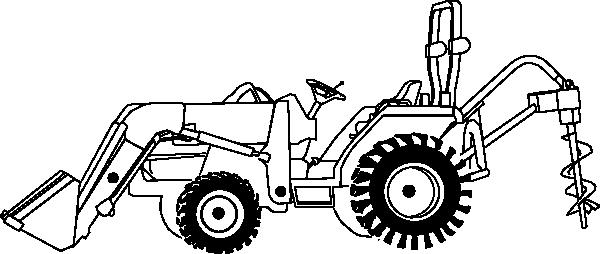 Coloriage Tracteur #63 (Transport) - Coloriages à imprimer