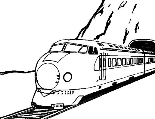 Coloriage Train / Locomotive #130 (Transport) - Coloriages ...