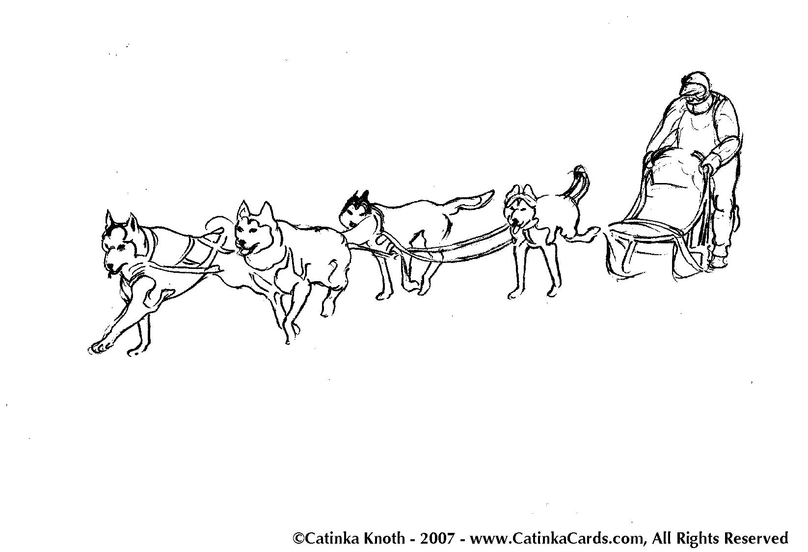 Coloriages Traineau à chien (Transport) - Album de coloriages