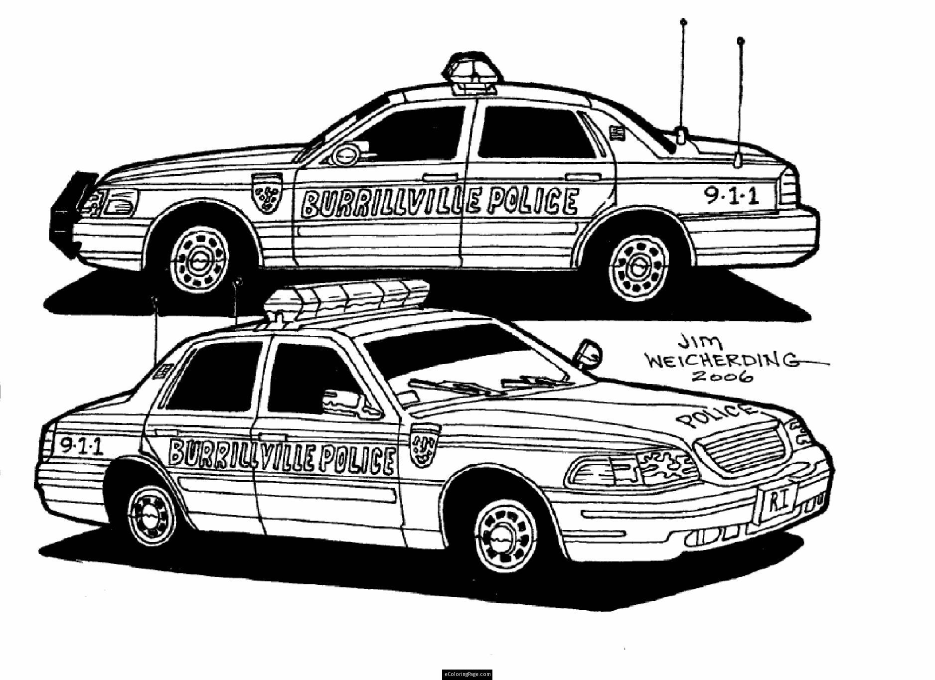 Coloriages Voiture De Police Transport Album De Coloriages