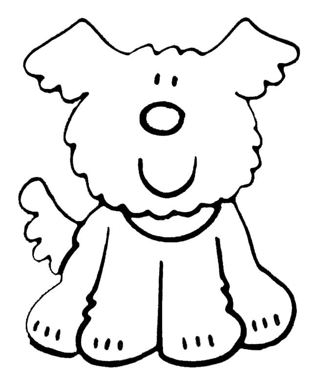 Chien 5 Animaux Coloriages à Imprimer